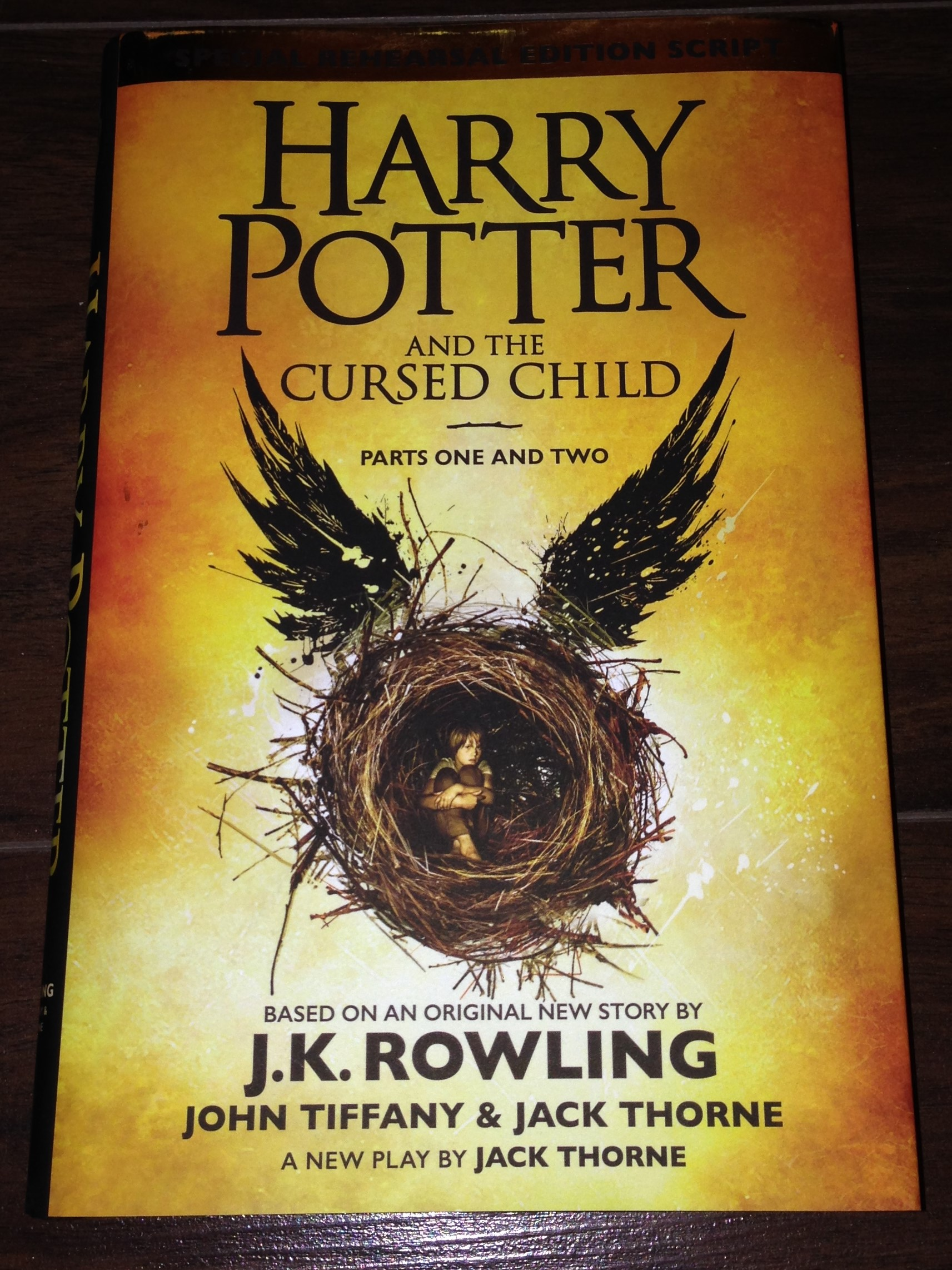 Harry Potter and the cursed child - cover - Amanda's update