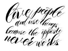 Quote love people - Amanda's Update